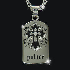 POLICE Halskette Herren Kette Anhänger Schmuck ASGARD Silber NEU PJ24651PSS.01
