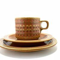 Vintage Hornsea Pottery Saffron Tea Cup Saucer Plate Trio 1973