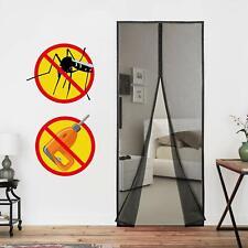 Magnet Insektenschutz Vorhang Tür Magnetvorhang Mückenschutz Fliegennetz Schwarz