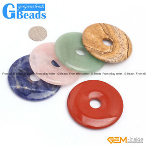 Assorted Stones Donut Beads For Earrings and Pendants Making Free Shipping