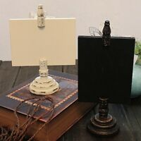 Rustic Wooden Photo Clip Stand Note Paper Memo Holder Study Decorative Gift