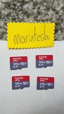 FOUR Sandisk Ultra 128GB Micro SDXC UHS-I SDSQUAR-128G-GN6MA