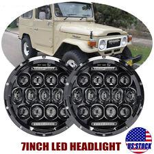 Pair 7 inch LED Headlights For LAND CRUISER FJ40 FJ45 FJ50 FJ55 FJ60 FJ62 FJ70