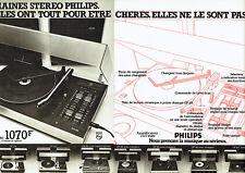 Publicité Advertising 088  1976   Philips  chaines hi-fi stéréo  ( 2 pages)