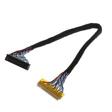8 Bit LVDS Cable FIX-30 Pin 2ch For 17-26inch LCD/LED Panel Controller 25cm New
