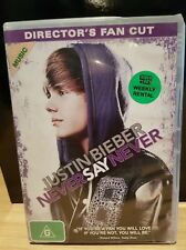 Justin Bieber - Never Say Never (DVD, 2011) Ex-Rental - Free Postage