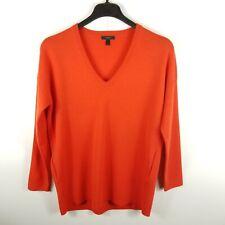 J. Crew Women Pullover Oversize Merino Wool Pocket Sweater Orange S