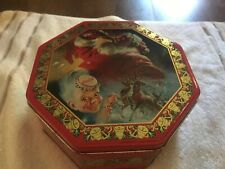 Coca Cola Classic Style Advertising Ad Drink Coke Litho Tin Can Container w Lid
