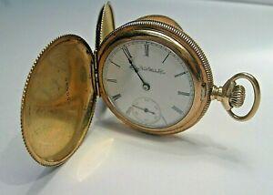Vintage 1903 ELGIN Grade 206 Pocket Watch. HC, Sz 6s. RUNS