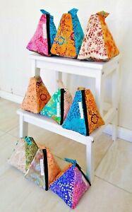Handmade recycled batik patchwork door stop stopper house home decor great gift