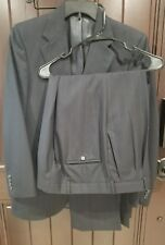 Burberry Mens Black Wool Pinstripe Two Button Suit Coat/Blazer and Pants