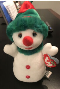 TY Beanie Baby SNOWGIRL the Snowman Stuffed Animal Toy Plush New Retired