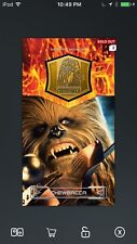 Topps Star Wars Digital Card Trader Gold Chewbacca Medallion Insert