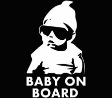 "7"" x 4"" BABY ON BOARD Vinyl Decal Stickers Cool Funny Hangover Awesome 5*****"