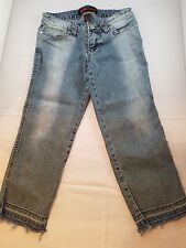 Beautiful Dollhouse Women's Stretch Denim Blue Jeans/Capris - Size 1 - 5 Pockets