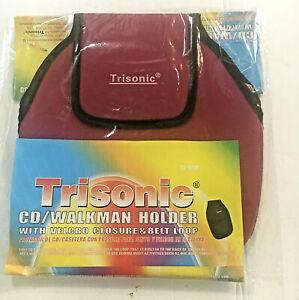 New Trisonic Case CD Walkman Discman Belt Case Waist Clip Fanny Pack