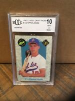 CHIPPER JONES 1990 Classic #1 Draft Pick Rookie Card RC BGS BCCG 10 HOF WS Ring