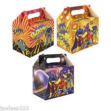 10 Superhéroe Fiesta Cajas De Almuerzo Cartón Regalo Bolsas de alimentos para niños bolsas de botín