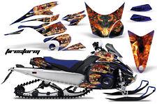 AMR Racing Sled Wrap Yamaha FX Nytro Snowmobile Graphics Kit 08-14 FIRESTORM BLU