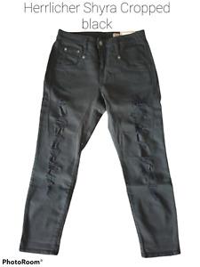 Herrlicher Damen Jeans Shyra Cropp+Farbe:schwarz+Neuware+