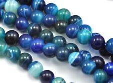Cuentas sueltas de joyería redondas color principal azul