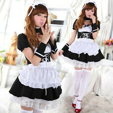 Fashion Lolita Maid Dress Cosplay Role-playing Outfiy Stage Costume Temptation