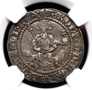 ITALY, Naples. Charles d'Anjou. 1285-1309. Silver Gigliato. NGC AU55