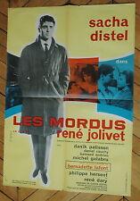 SACHA DISTEL BERNADETTE LAFONT  LES MORDUS 1960 RARE AFFICHE FRENCH POSTER