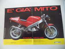 advertising Pubblicità 1990 MOTO CAGIVA MITO 125 7 SEVEN SPEED