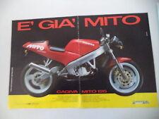 advertising Pubblicità 1990 MOTO CAGIVA MITO 125 7 SEVEN SPEED