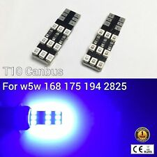 T10 194 168 2825 175 12961 License Plate Light BLUE 18 Canbus LED M1 For BMW R