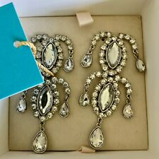 Anna Dello Russo FOR H&M- Sparkling Chandelier Earrings- BLING!- NEW Boxed