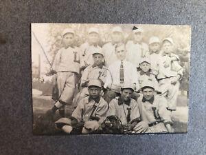 Original Antique Mounted Photograph Photo Baseball Unidentified Team