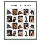Heritage Breeds  20 FOREVER STAMP SHEET