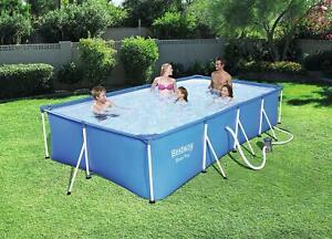 Bestway 2300L Deluxe Splash Frame Family Swimming Pool 102 x 67 x 24 inch + Pump