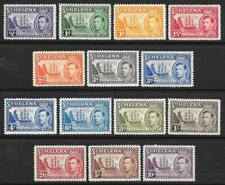 St Helena 1938-44 Set to 10/- (MNH)