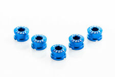 x5 New Alloy Cycling Bike Bicycle Chainring Bolts for Single Speed Crank - Blue