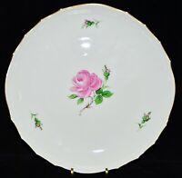 Preissenkung !! runde Schale Meissen, rote Rose, handgemalt, Gold, 27 cm