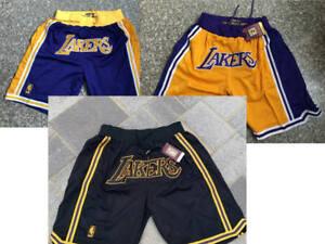 Los Angeles Lakers Yellow Royal Black Shorts