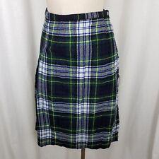 9acac9870e Vintage in Lana Scozzese Scotch Plaid Kilt Gonna a Portafoglio Donna S  Verde Blu