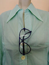 Nadelstreifen Damen Bluse NOS 70er OVP True Vintage alter Lagerbestand blouse