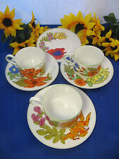 HEINRICH Germany LEMEAU Tastesetter Cups & Saucers Set Of 3