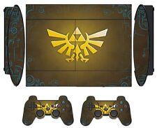 Zelda 255 Skin Sticker for PS3 PlayStation 3 Super Slim with 2 controller skins