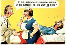 .Lift him by the Buttocks.COMIC BAMFORTH POSTCARD.End Of Stock!