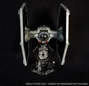 Display stand 3D + slots for Lego 9492-75211-75300 Tie Fighter (Star Wars)