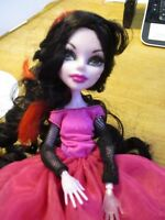 Monster High Doll Operetta Black & Bed Hair PINK DRESS & PINK SKIRT & BOOTS