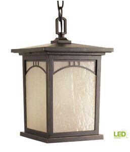 Progress Lighting Residence 1-Light Outdoor Antique Bronze LED Hanging Lantern
