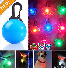 LED Safety Dog Cat Night Light Flashing Colour Buckle Collar Pet Luminous gwp007