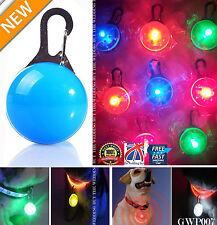 LED Safety Dog Cat Night Light Flashing Colour Buckle Collar Pet Luminous gwp007