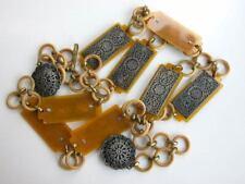 Art Deco Celluloid and Metal Belt